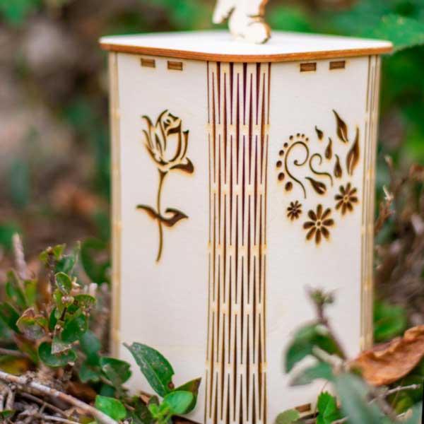 Lesena sveča CVET