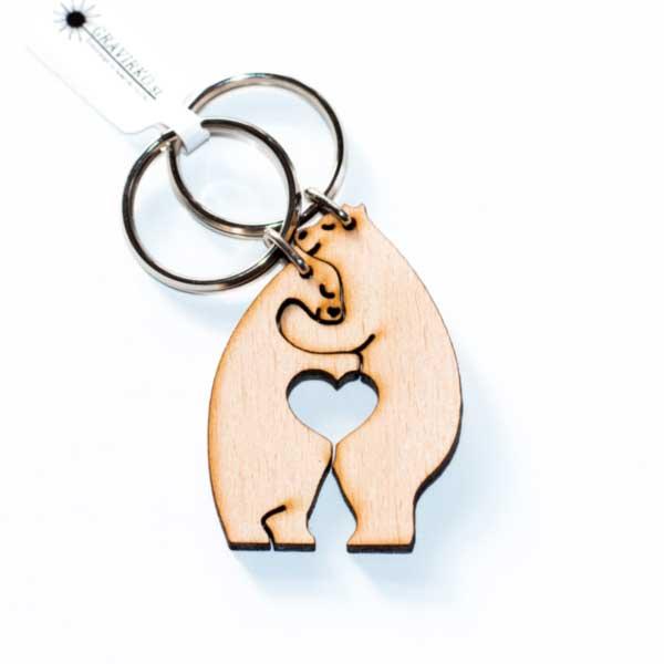 Obesek za ključe v obliki medvedka