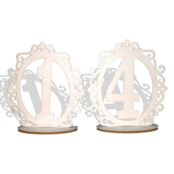 Številke za dekoracijo miz